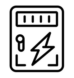 Accessible electricity icon outline style vector
