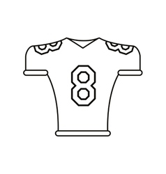 american football jersey uniform tshirt outline vector image