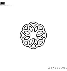 arabesque outline style vector image