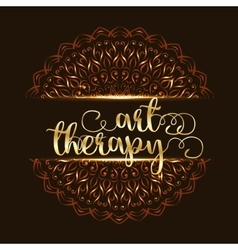 Art therapy mandala logo vector image