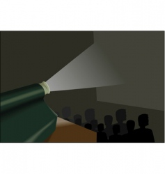 audience at movies vector image