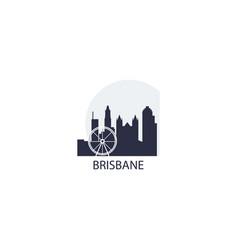 australia brisbane skyline vector image