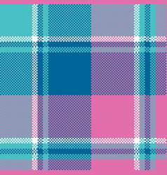 Baby girl pink pastel color plaid seamless pattern vector
