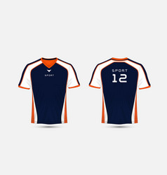 Blue white and orange pattern sport football vector
