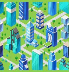 building skyscraper in cityscape city vector image