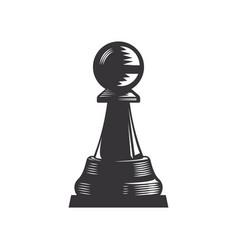 chess line art vector image