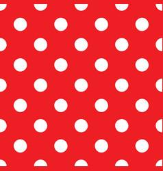 classic polka dots seamless pattern vector image
