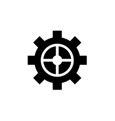 cog settings gear icon vector image