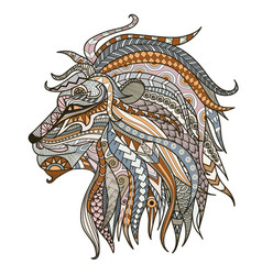 Colorful lion head vector