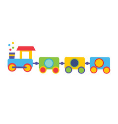 Colorful toy train vector