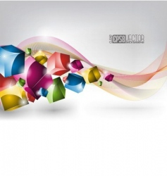 colors winding design vector image