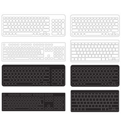 Computer keyboard blank template vector