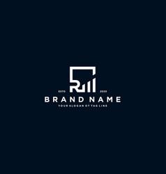Creative letter r financial chart logo design vector