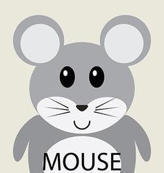 Cute grey mouse cartoon flat icon avatar vector