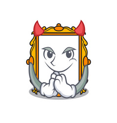 devil picture frame mascot cartoon vector image