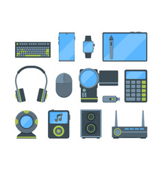different modern electronic gadgets flat vector image