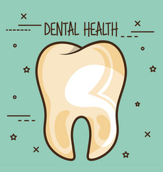Dirty tooth dental care icon vector