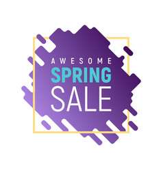 dynamic square pixel spring sale template vector image
