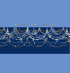 elegant minimal christmas garland pattern vector image