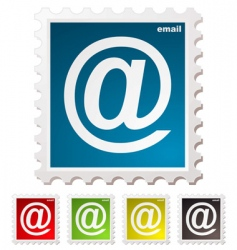 email stamp vector image