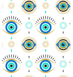 Evil eyes seamless pattern contemporary modern vector