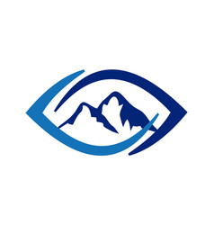 eye mountain abstract logo icon concept vector image