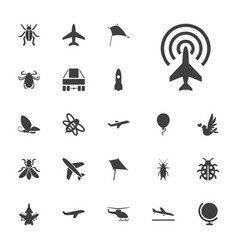 Fly icons vector