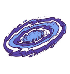Galaxy icon hand drawn style vector