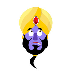 Genie surprised emoji magic ghost astonished vector
