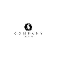 greek helmet abstract black logo design vector image