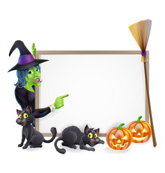Halloween witch background sign vector