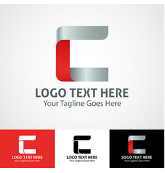 Hi-tech trendy initial icon logo c vector