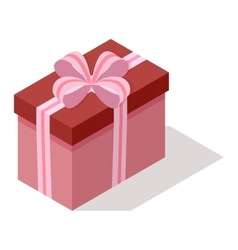 Isometric gift box icon isolated vector