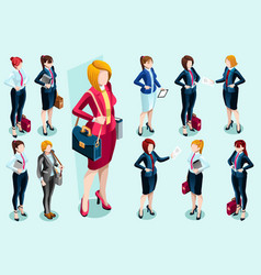 Isometric people people images vector