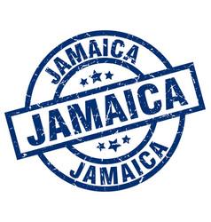 Jamaica blue round grunge stamp vector