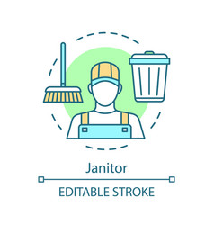 Janitor concept icon vector