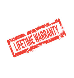 lifetime warranty seal grunge sign or badge icon vector image