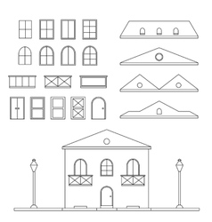 Lineart house generator vector