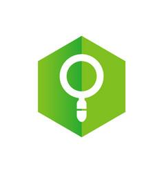 Magnify glass logo vector