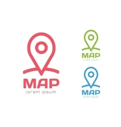 Map pin logo icon template Travel logo vector image