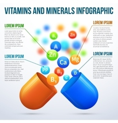 Medical vitamins and minerals infographics vector