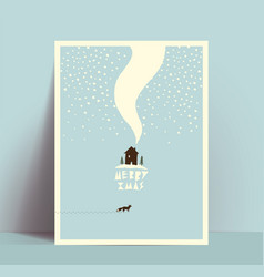 minimalistic hand drawn christmas card or poster vector image