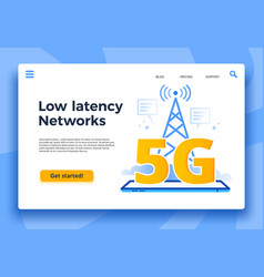 mobile 5g landing page fast internet connection vector image