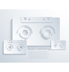 modern audio marketing background vector image