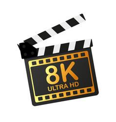 Modern movie full hd 8k great design for any vector