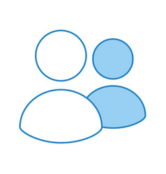 network users isolated icon vector image