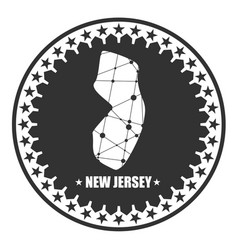 New jersey state map vector