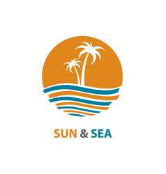 Ocean logo design vector