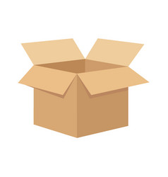 open flat box vector image