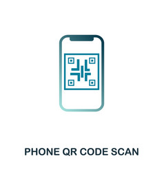 phone qr code scan icon flat style icon design vector image